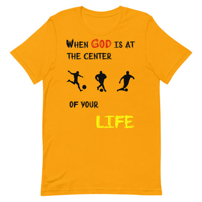 gold  T-Shirts Soccer-christian apparel,christian mens t shirts