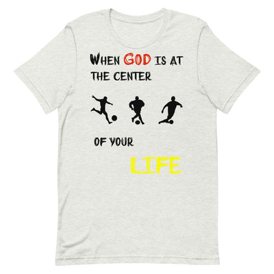 grey  T-Shirts Soccer-christian apparel,christian mens t shirts