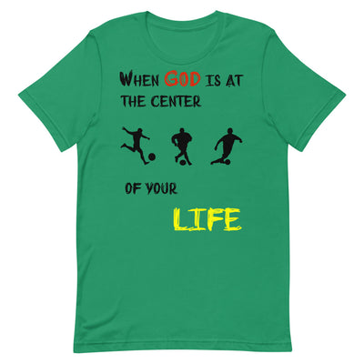 green  T-Shirts Soccer-christian apparel,christian mens t shirts