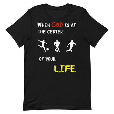 black T-Shirts Soccer-christian apparel,christian mens t shirts