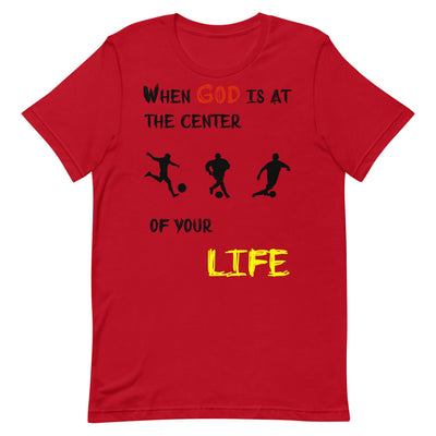 red  T-Shirts Soccer-christian apparel,christian mens t shirts