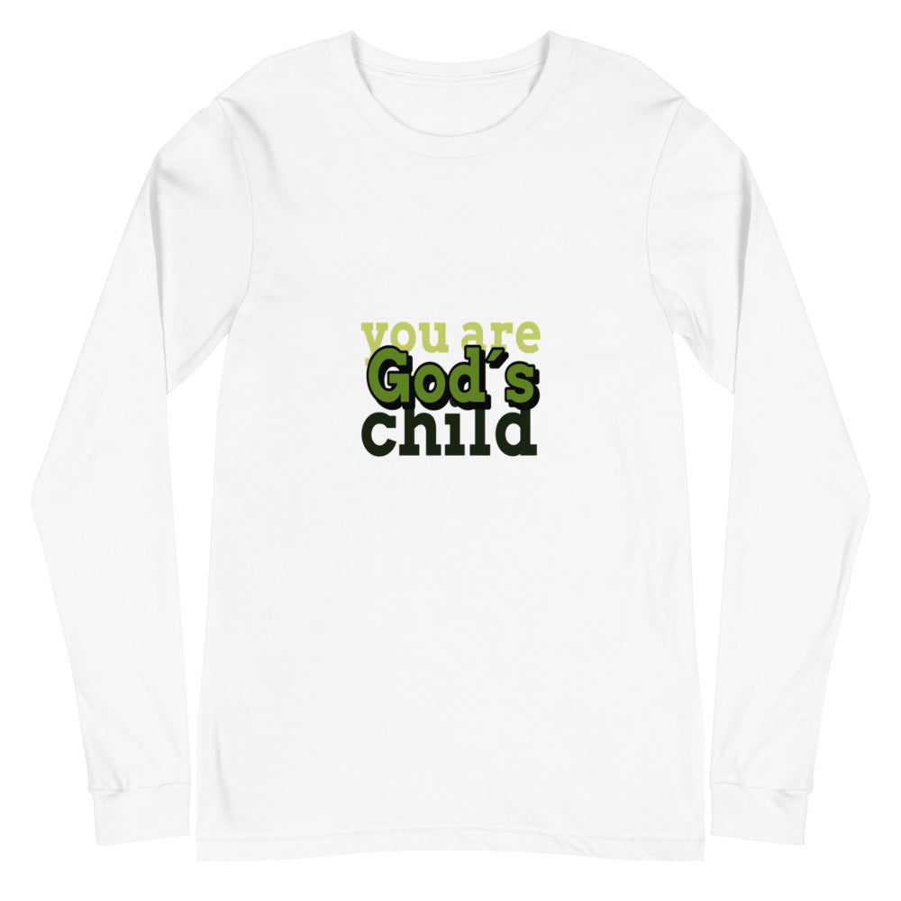 white Long sleeve shirts you are God´s child-green