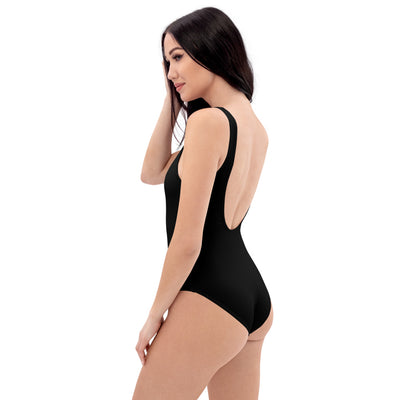 coast woman with black One-Piece Swimsuit Christ the Sun -religious