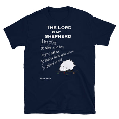 blue T-Shirt psalm 23┼ the Lord is my shepherd