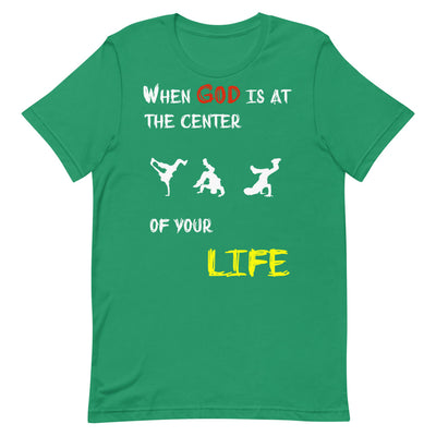 green T-shirt HIP HOP DANCE