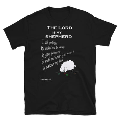 black T-Shirt psalm 23┼ the Lord is my shepherd
