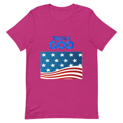 pink  T-shirt America Think GOD