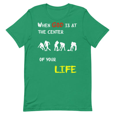 green T-Shirts Ice Sports-When God is at center of your life