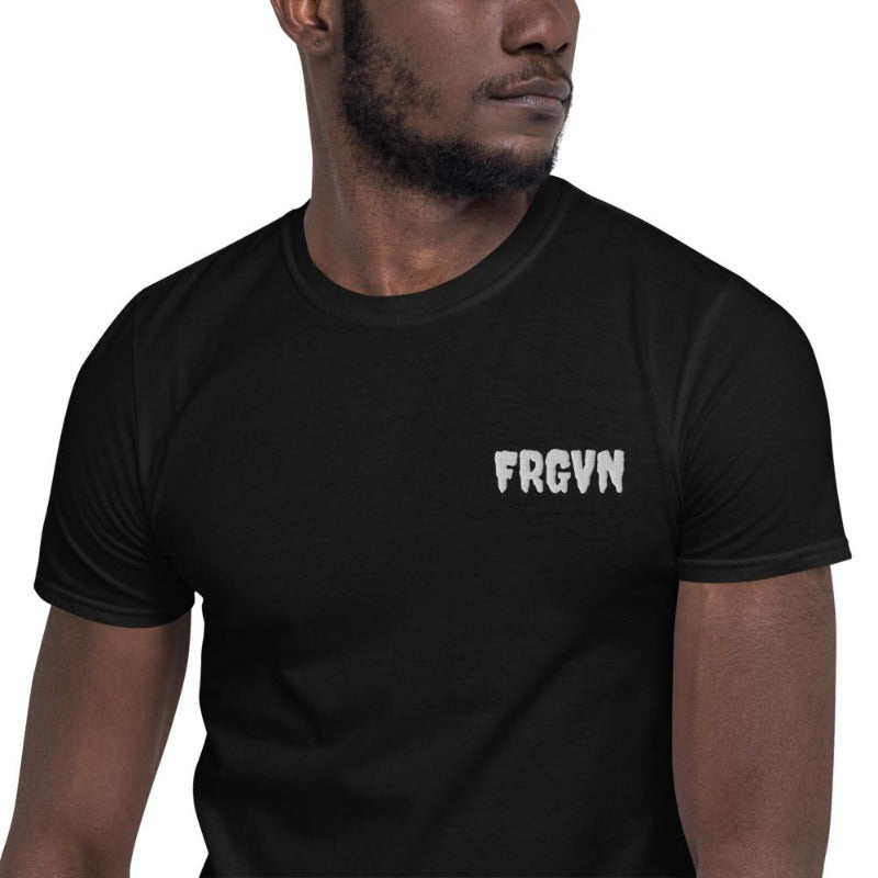 FRGVN shirts-Short-Sleeve Unisex T-Shirt-black model men