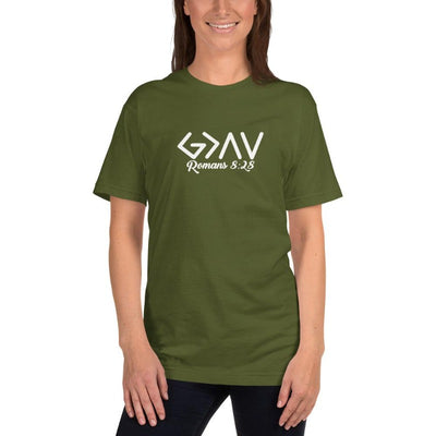 God is Greater than the Highs and Lows-Romans 8-28-tshirt women