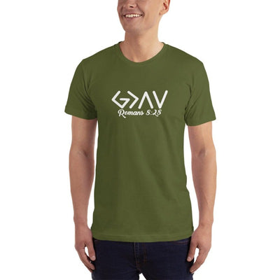 God is Greater than the Highs and Lows-Romans 8-28-tshirt men