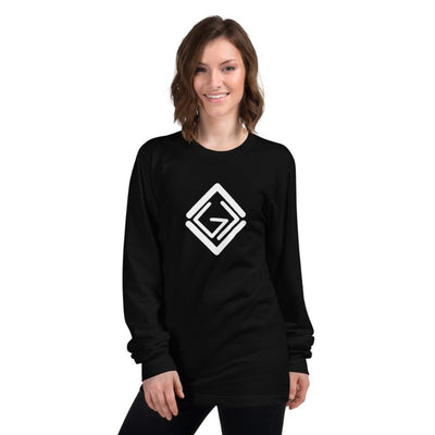 God is greater than the highs and lows-Long sleeve-black