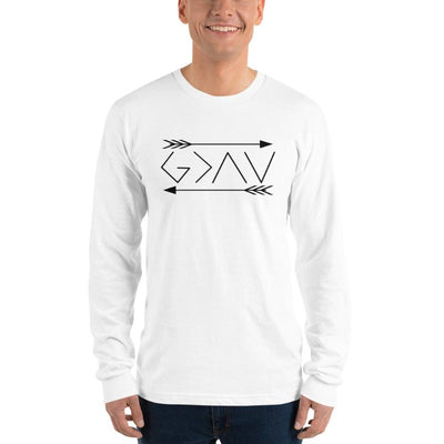 God is greater than the highs and lows-Long sleeve t-shirt-double arrows-men