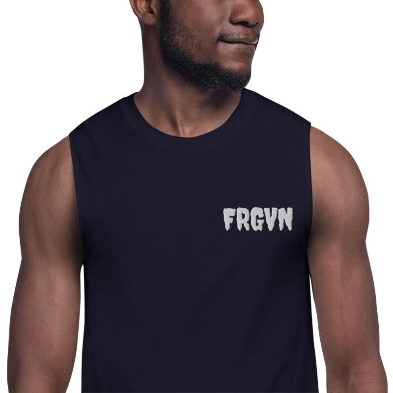 FRGVN-Black Muscle Shirt