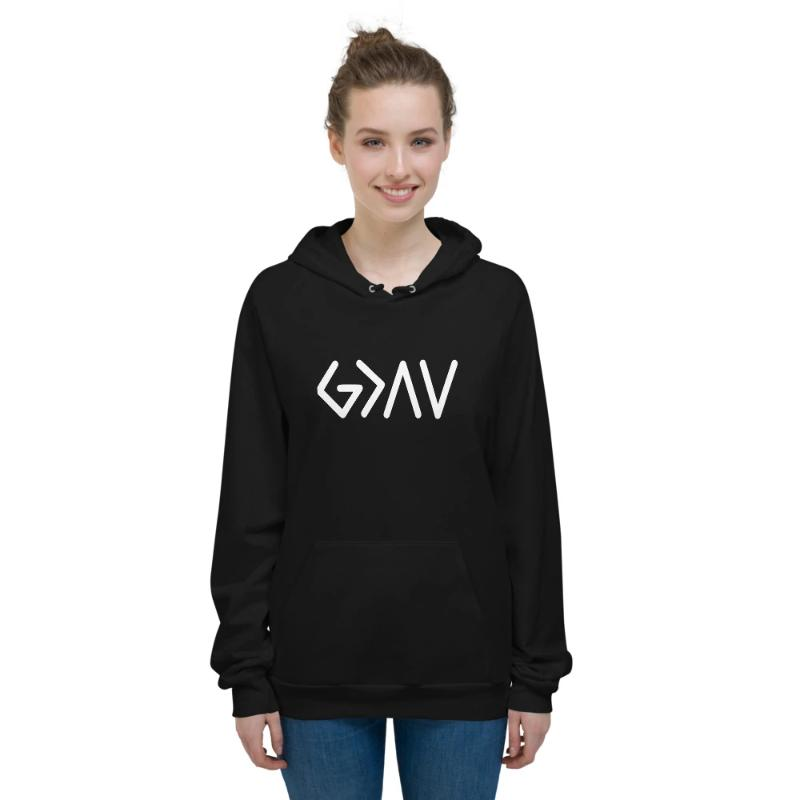 God is greater than the highs and lows Hoodies- Fleece Hoodie