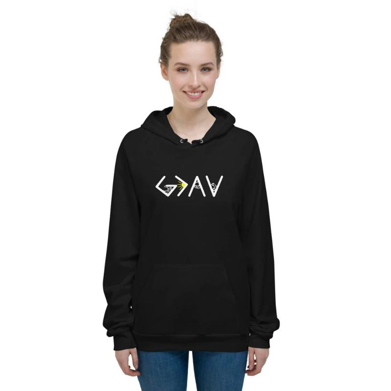 God is greater than the highs and lows Hoodies