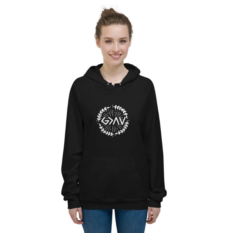 God is greater than the highs and lows Hoodies-wheat