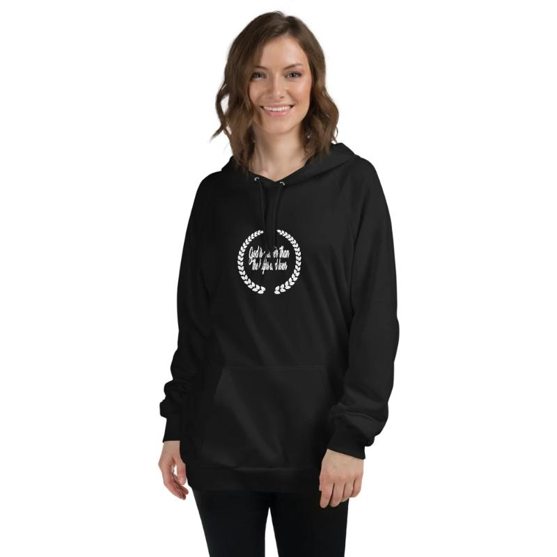 God is greater than the highs and lows Hoodies. ChristianHoodie