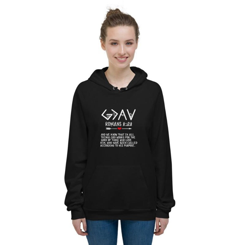 God is greater than the highs and lows Hoodies-Elevated faith