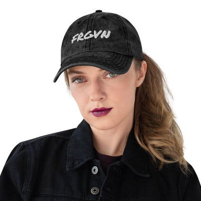 FRGVN hat-Vintage Cotton Twill Cap-BLACK