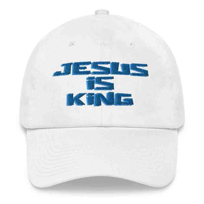 white Hat Styles Jesus is king merch