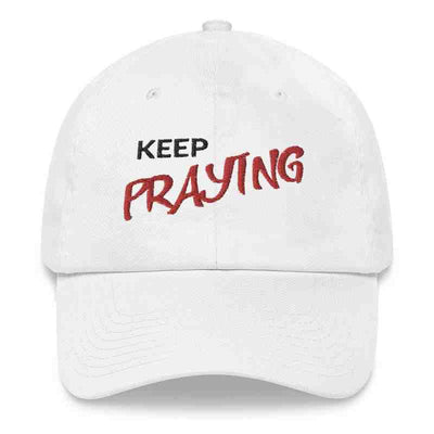 white Hat Styles Keep Praying ┼ Jesuslovingyou Brand