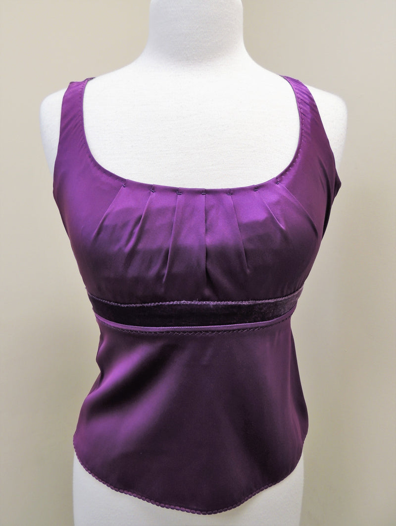 NEW Elie Tahari Magenta Silk Shell Top (XS)