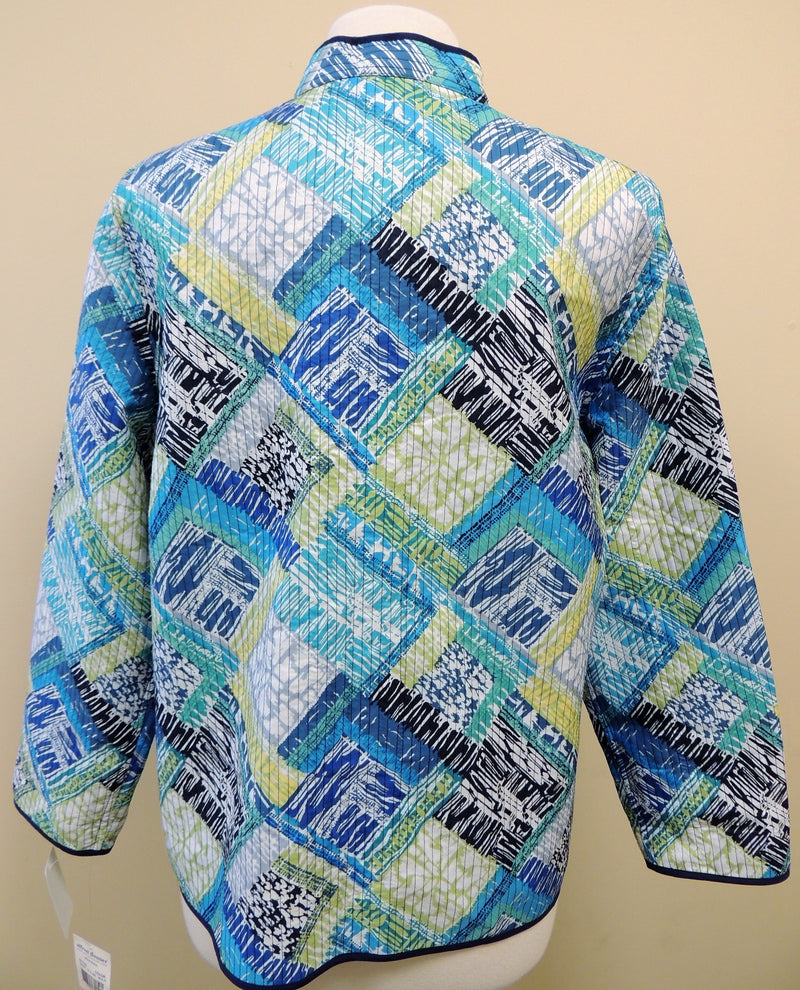 NEW Alfred Dunner Multi-Color Open Jacket (Size 10)
