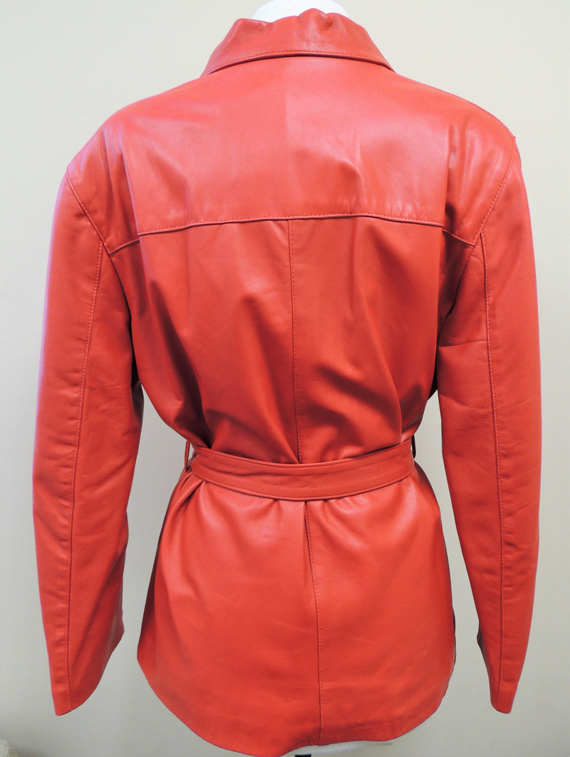 Ricard Pells Red Leather Jacket (M/L)
