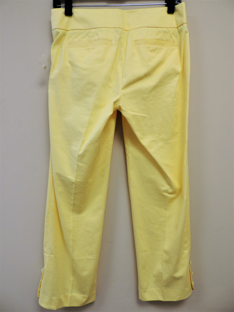 NEW Lilly Pulitzer Yellow Kristen Capri (Size 0)