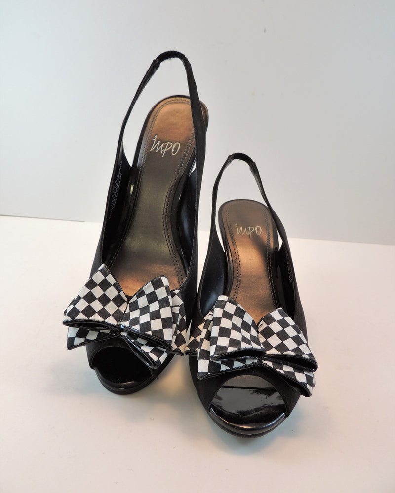 Black Peep-toe Wedge (7.5)