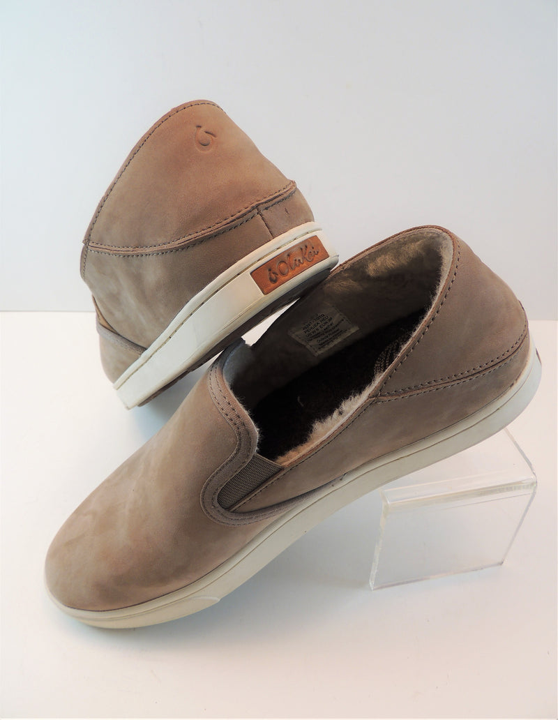 Olukai Tan Leather Slip-ons (9)
