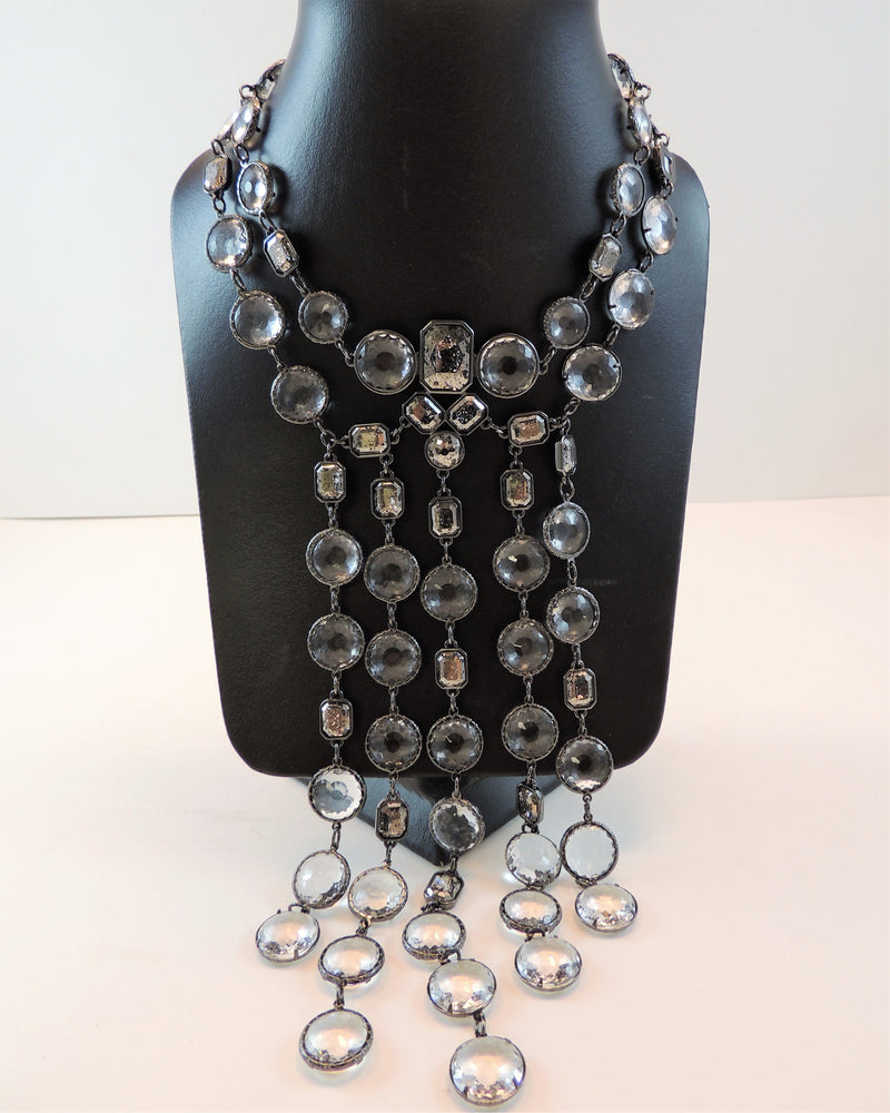 Crystal & Silverstone Necklace