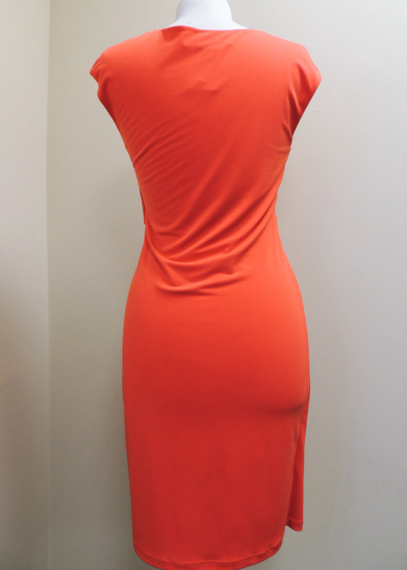Orange Scoop Neck Dress (M)