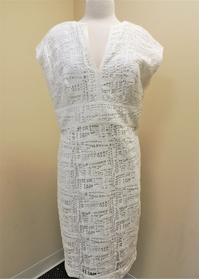 White Lace Tunic Dress (M)