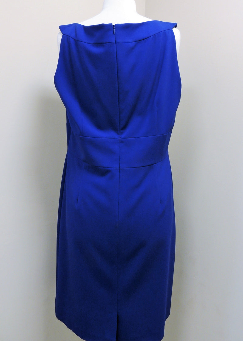 Tahari Royal Blue Sleeveless Dress (Size 16)