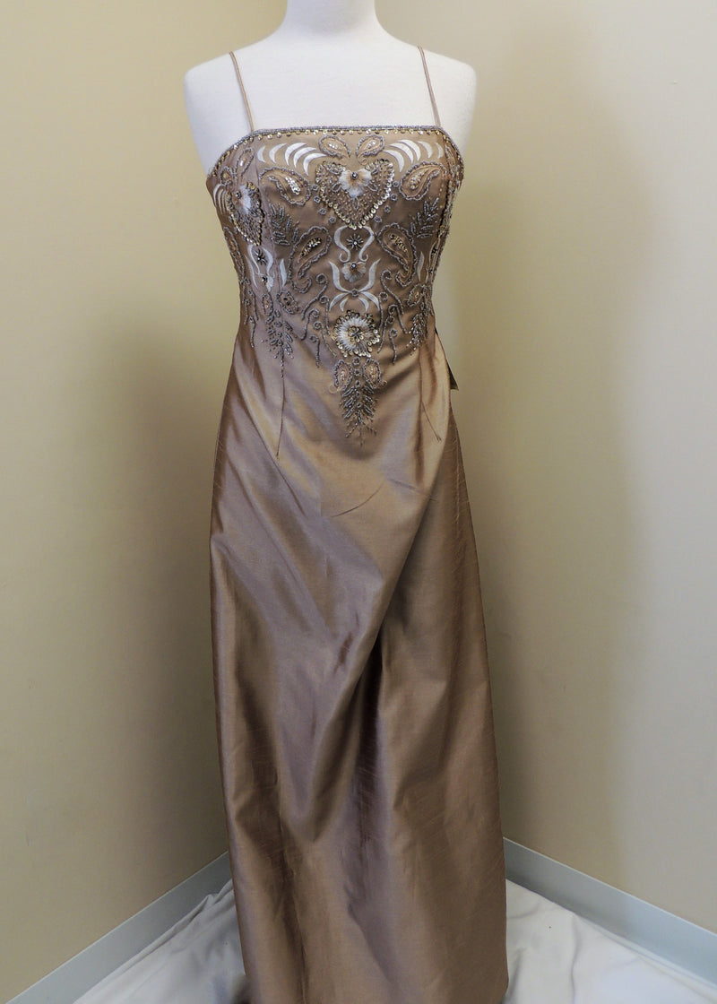 NEW Champagne Beaded Gown w/ Jacket (4)