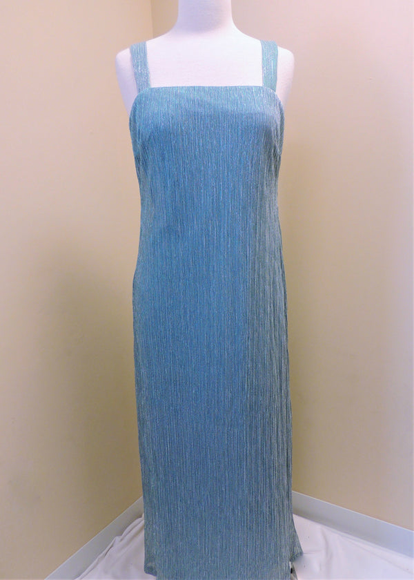 Turquoise Shimmer Gown w/ Jacket (8)