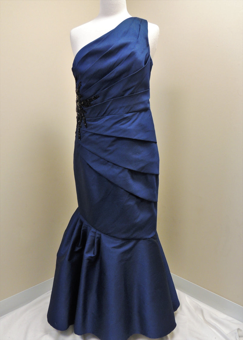 Navy One Shoulder Gown (12)