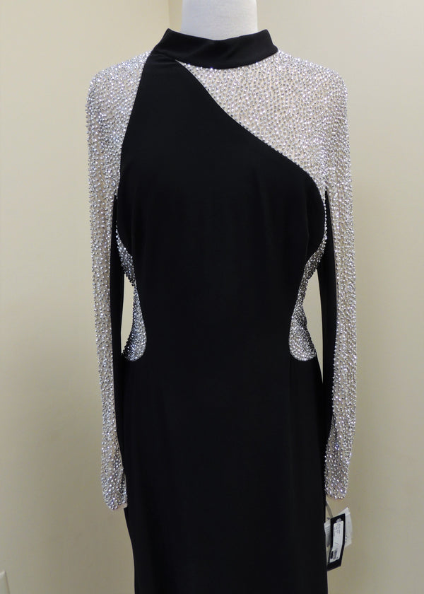 NEW Black Evening Gown w/ Beaded Top (16)