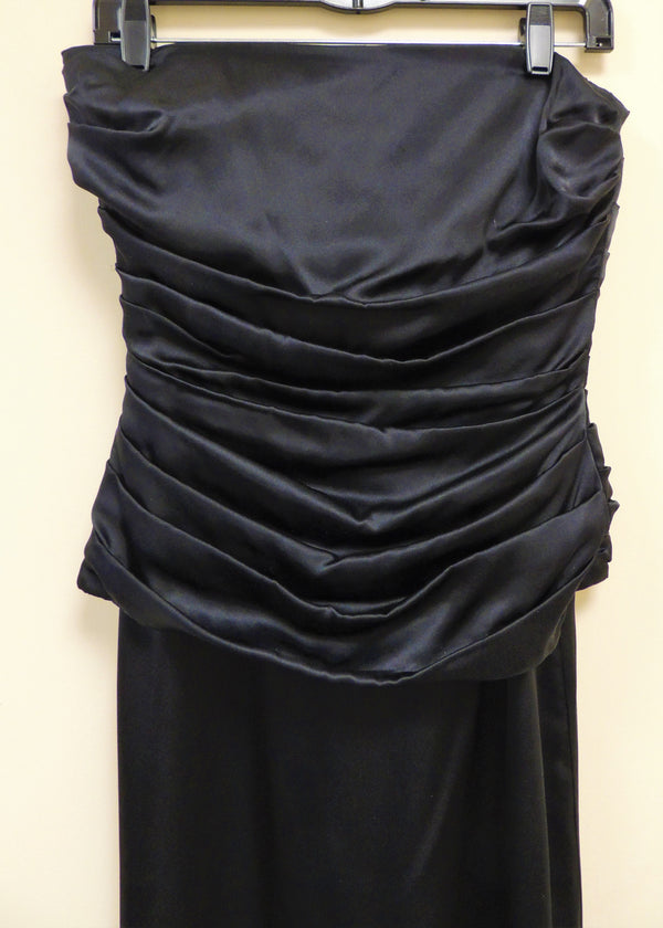 Black Strapless Gown (4)