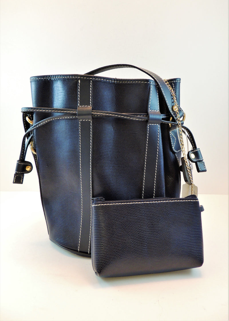 Lancel Navy Handbag & Wrislet