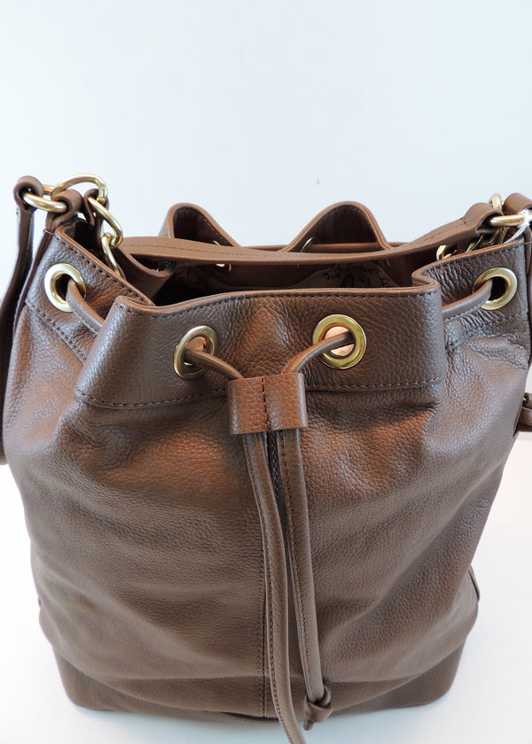 Foley & Corinna Brown Bag with Chain Strap