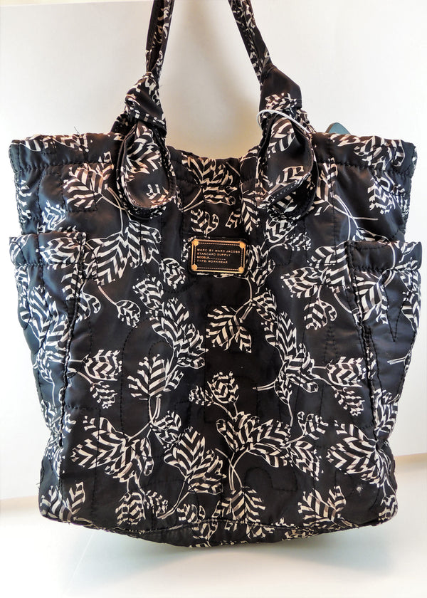 Marc Jacobs Navy Floral Print Tote