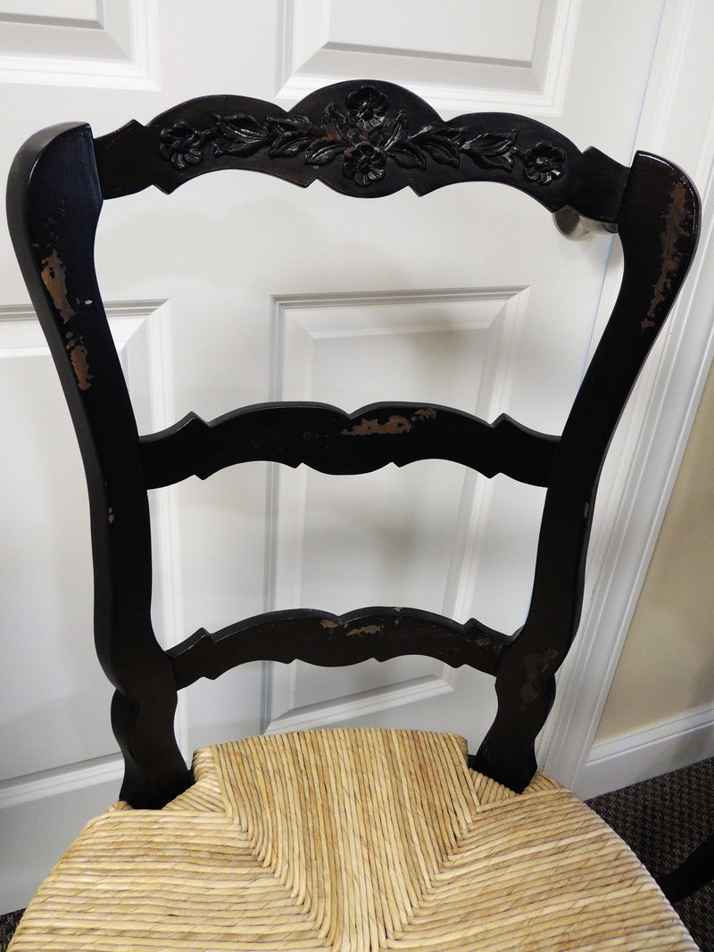 Set of 6 Black French Country Chairs