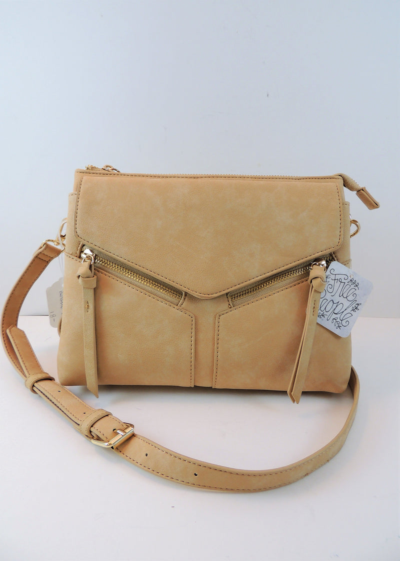 NEW Free People Beige Cross-body Bag