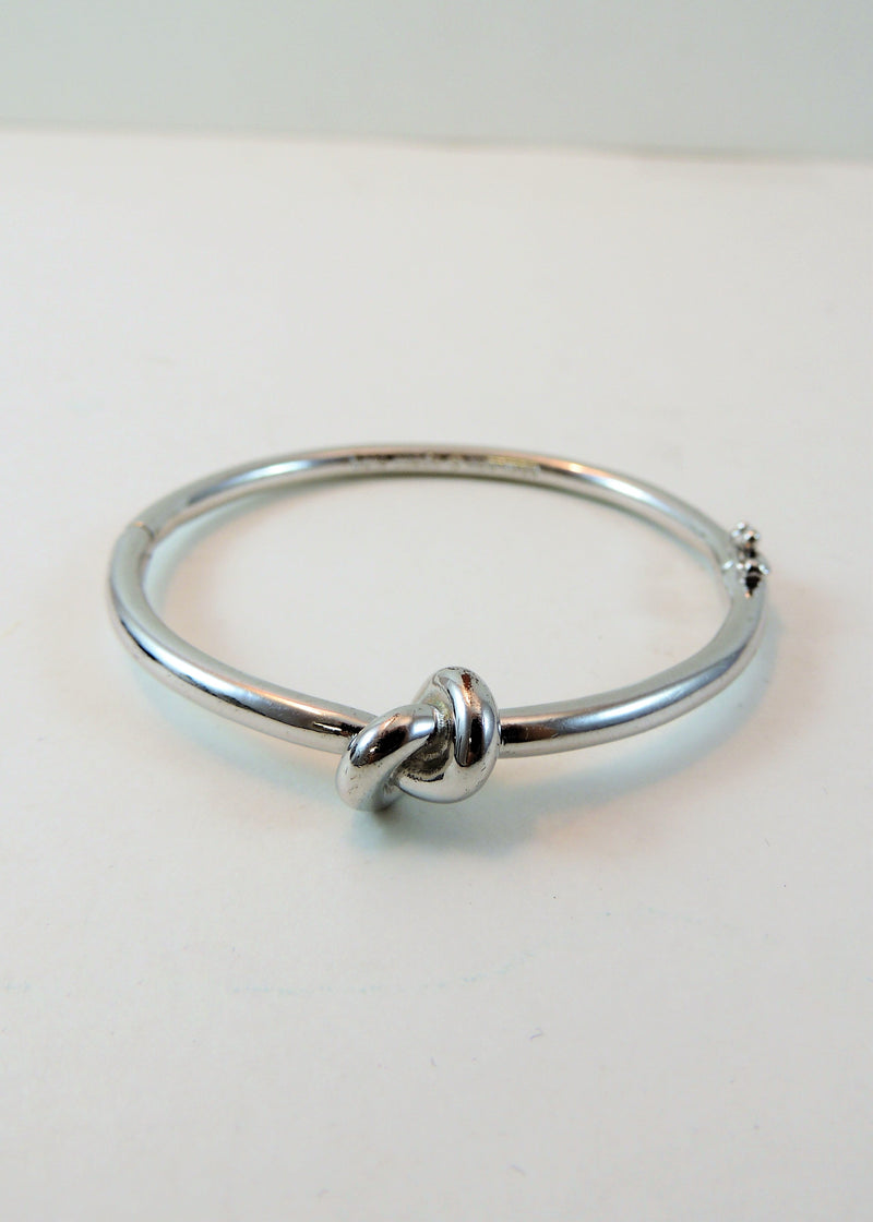 Kate Spade Silvertone Knot Bangle