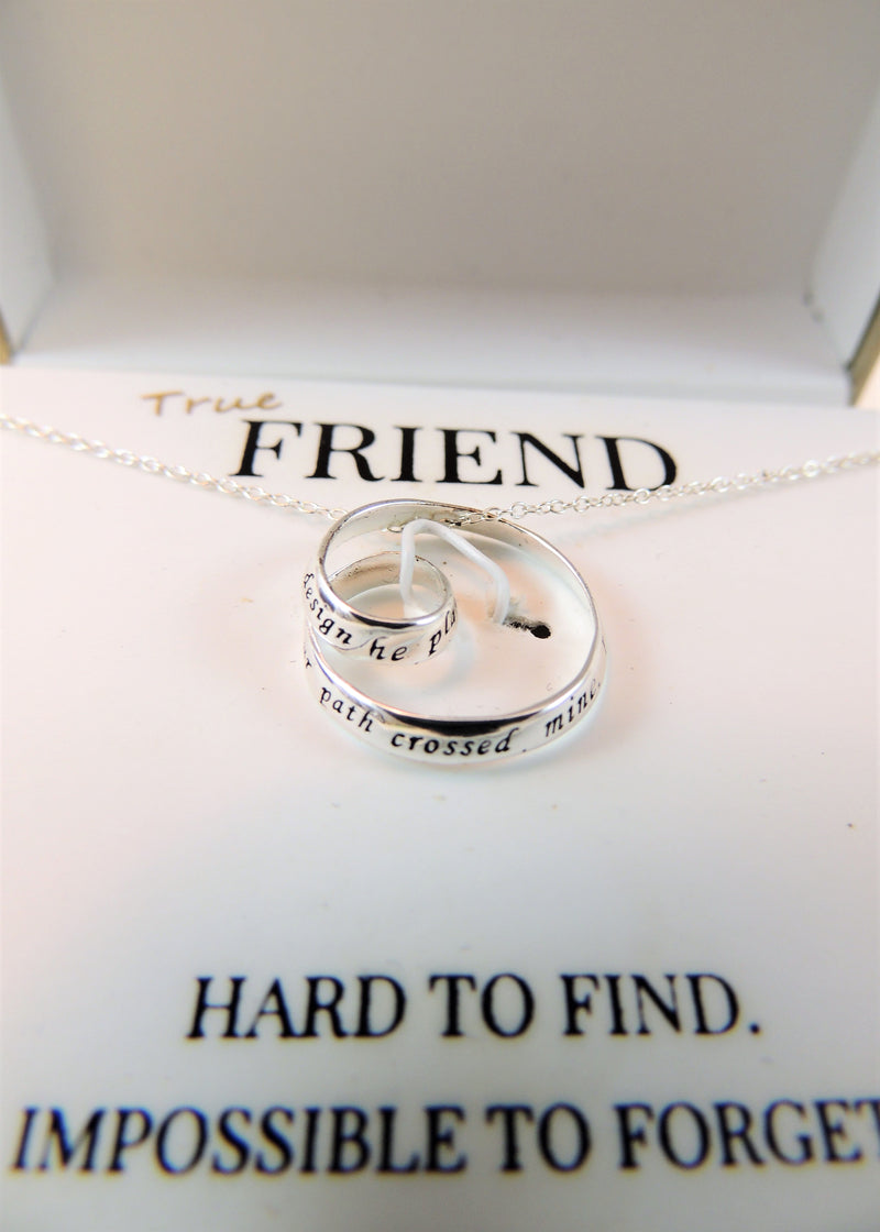 NEW True Friend Sterling Silver Necklace