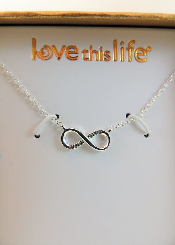 NEW Sterling Silver Infinity Necklace