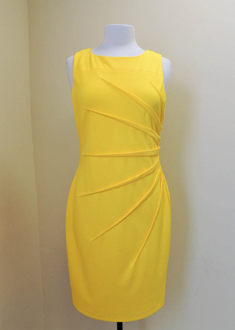 Calvin Klein Yellow Sleeveless Dress (10)